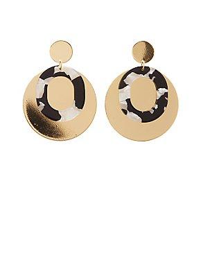 Resin Layered Disc Earrings