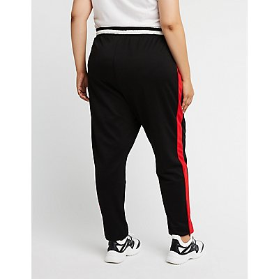 Plus Size Colorblock Pants