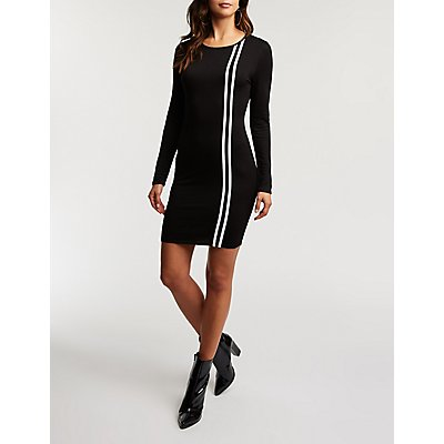 Double Stripe Bodycon Dress