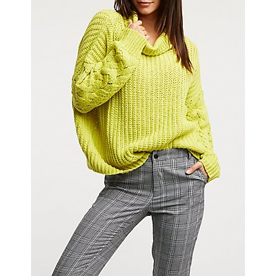 Cowl Neck Pullover Sweater