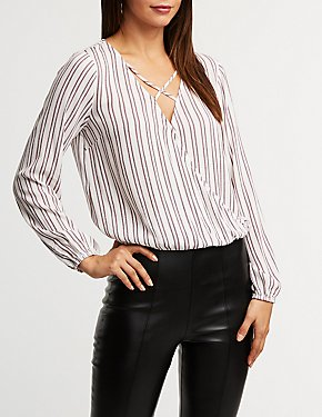 Striped Caged Top