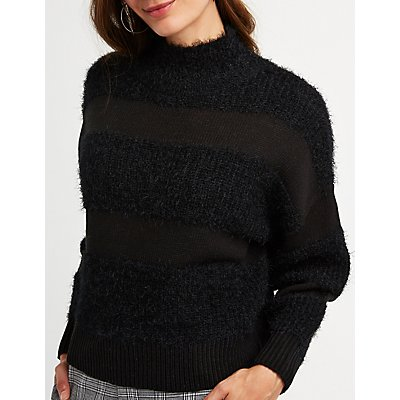 Mock Neck Pullover Sweater