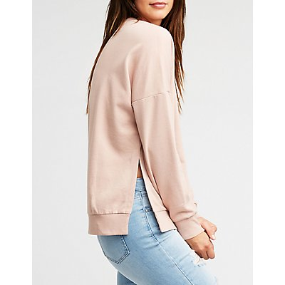 Side Split Pullover Sweatshirt