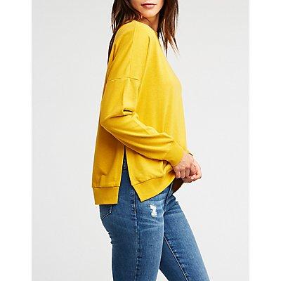 Side Split Pullover Sweatshirt