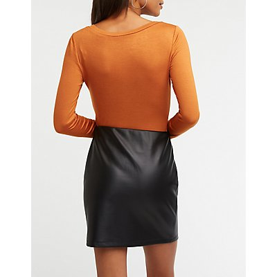 V Neck Pocket Bodysuit