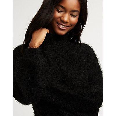 Balloon Sleeve Pullover Sweater