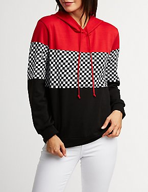 Checkered Pullover Hoodie