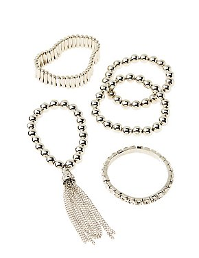 Beaded Stretch Bracelet Set - 5 Pack