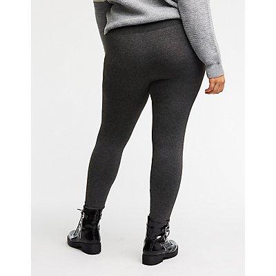 Plus Size Marled Fleece Lined Leggings
