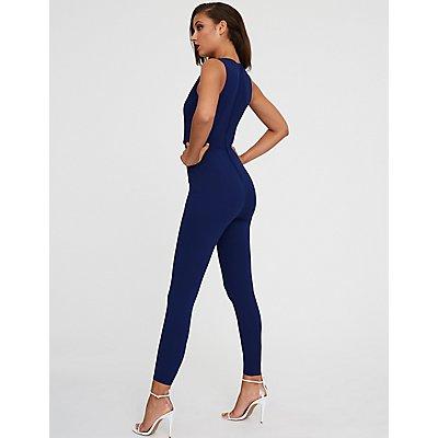 Slim Leg Tuxedo Jumpsuit