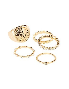 Assorted Stacking Rings - 5 Pack