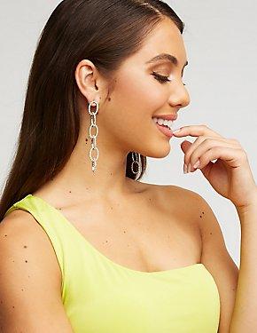 Crystal Chainlink Drop Earrings