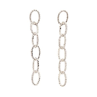 Crystal Chainlink Drop Earrings