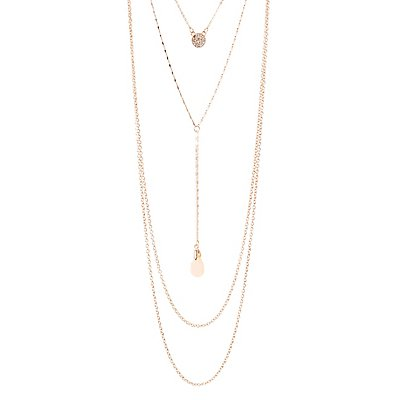 Crystal & Stone Layered Necklace
