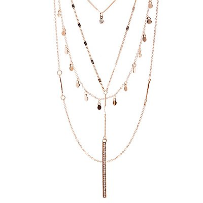 Disc & Bar Layering Necklace