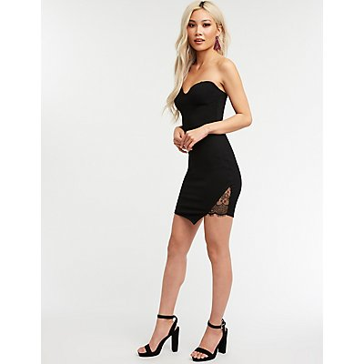 Strapless Lace Bodycon Dress