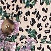 Plus Size Leopard & Floral Peplum Top