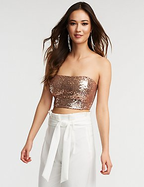 Sequin Tube Top