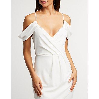 Cold Shoulder Wrap Dress