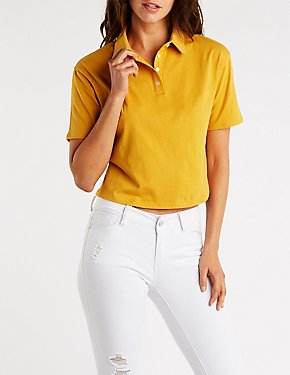 Button Up Polo Tee