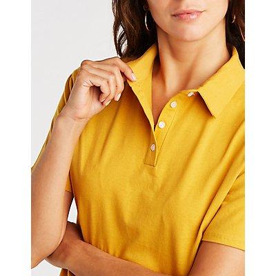 Button Up Polo Tee