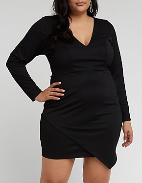 Plus Size V Wired Bodycon Dress