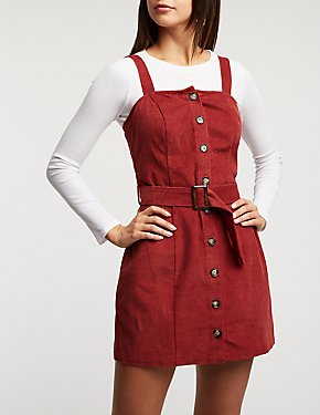 Corduroy Button Up Dress