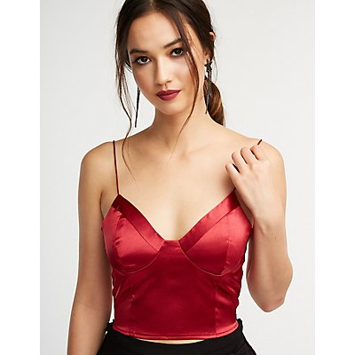 Satin Crop Bustier