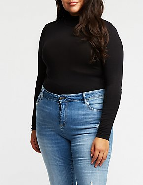 Plus Size Mock Neck Bodysuit