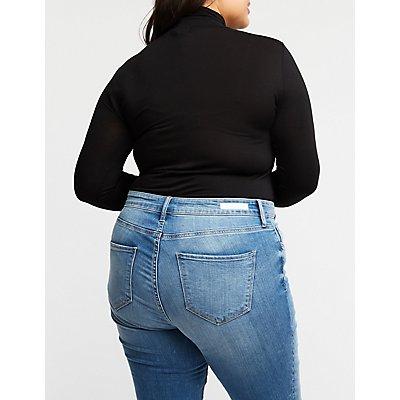 Plus Size Mock Neck Bodysuit
