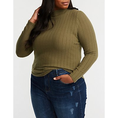 Plus Size Mock Neck Sweater
