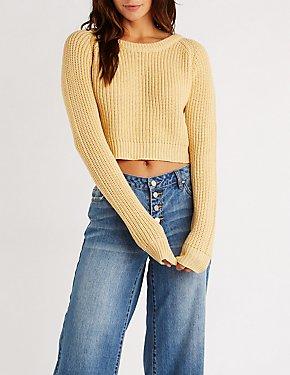 Crew Neck Crop Pullover Sweater