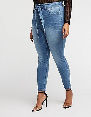 Plus Size Refuge Paperbag Skinny Jeans
