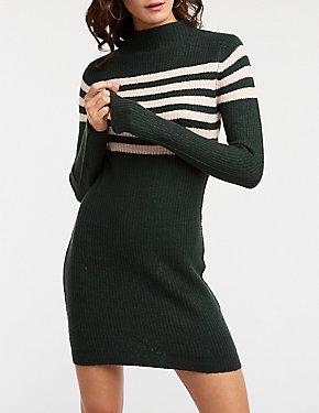 Stripe Bodycon Sweater Dress