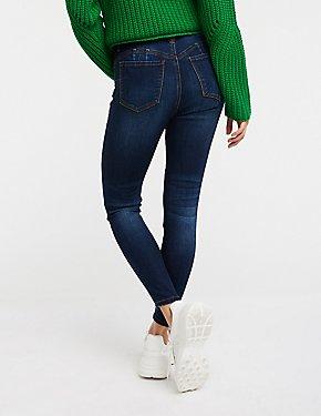 Hi Rise Push Up Skinny Jeans