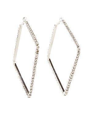 Crystal Diamond Hoop Earrings