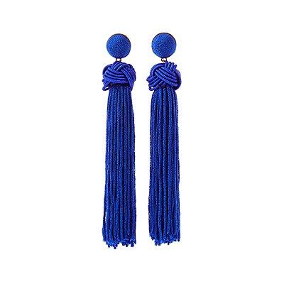 Knotted Tassel Drop Earrings
