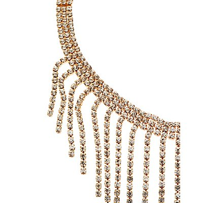 Crystal Fringe Choker Necklace