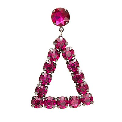 Triangle Stone Drop Earrings