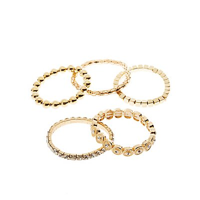 Mixed Bangle Set - 5 Pack