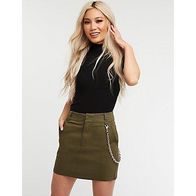 Chain Link A Line Skirt