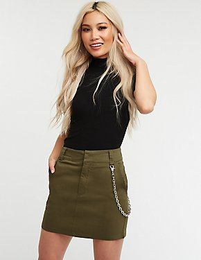 Chain Link A Line Skirt