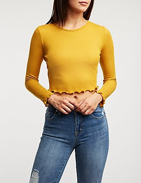 Lettuce Trim Cropped Tee