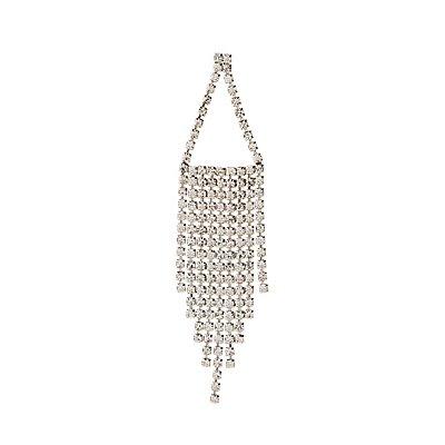Crystal Fringe Chandelier Earrings