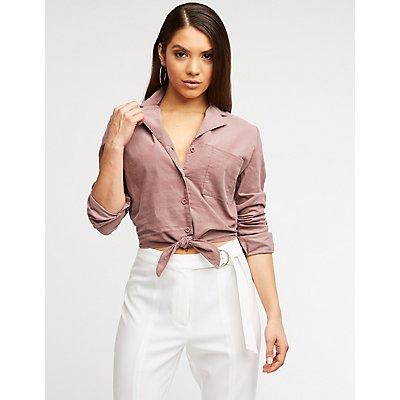 Corduroy Button Up Shirt