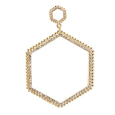 Crystal Geometric Drop Earrings