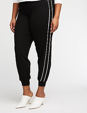 Plus Size Stripe Joggers