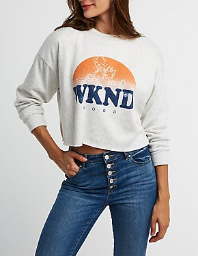 WKND Mood Graphic Pullover Sweatshirt