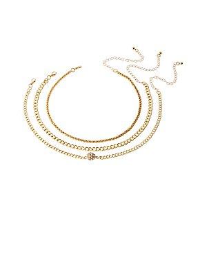 Crystal Ball Pendant Choker Necklace