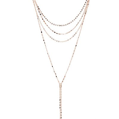 Crystal Multi Chain Necklace